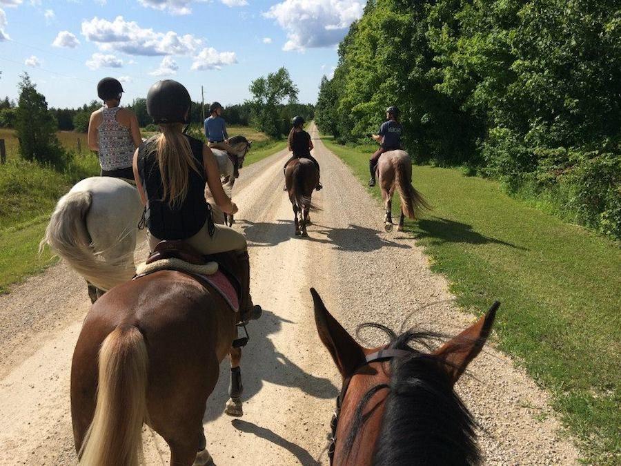 balade à cheval randonnée Ontario