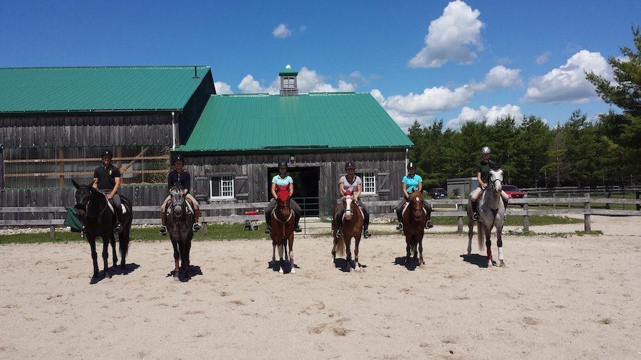 groupe cavaliers écurie Ontario