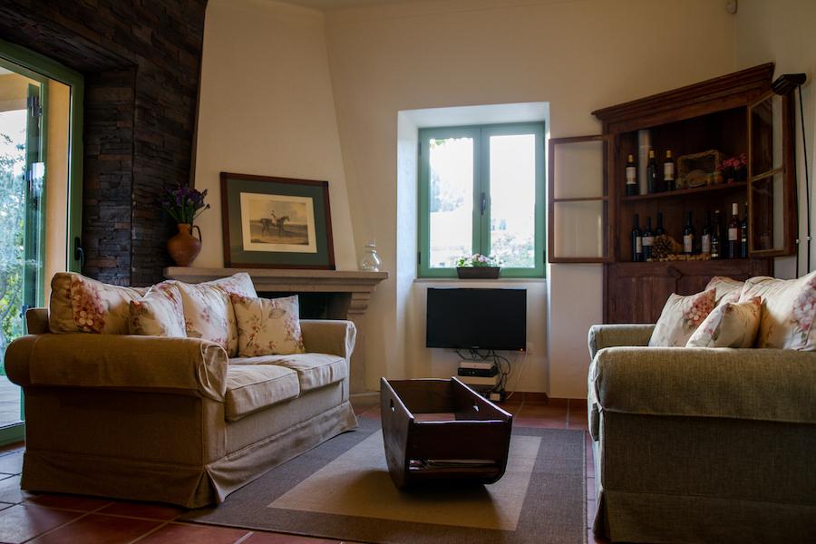 salon cheminée chambre d'hôtes Portugal