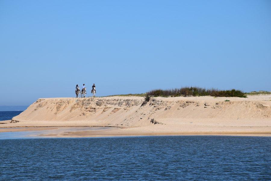 randonnée équestre Portugal plage