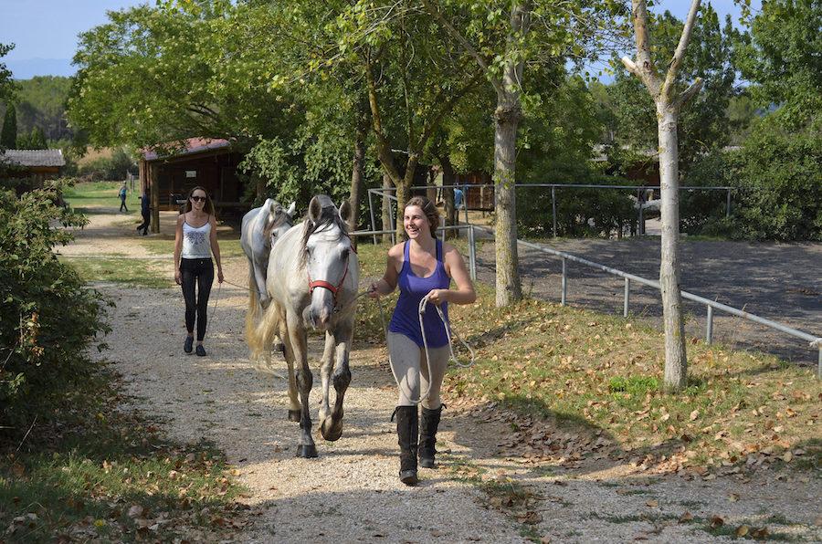 randonnée équestre Catalogne chevaux espagnols
