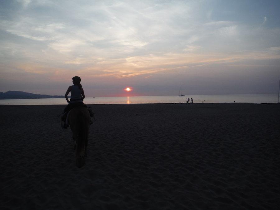 randonnée équestre plage Catalogne
