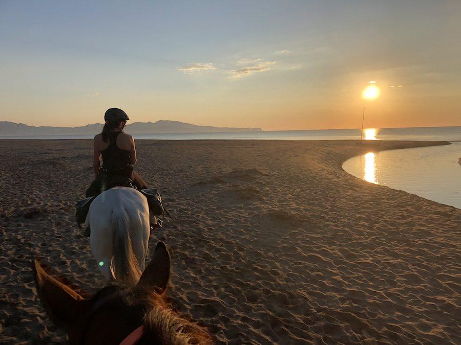 randonnée cheval plage Catalogne