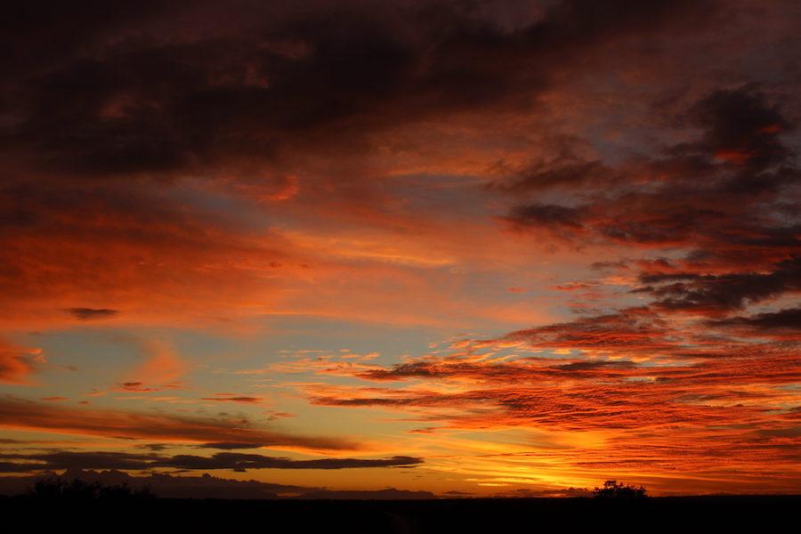 coucher de soleil afrique du sud