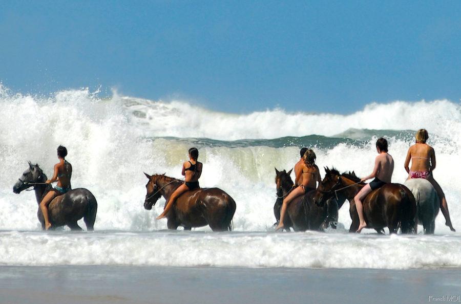stage ado Landes baignade cheval plage