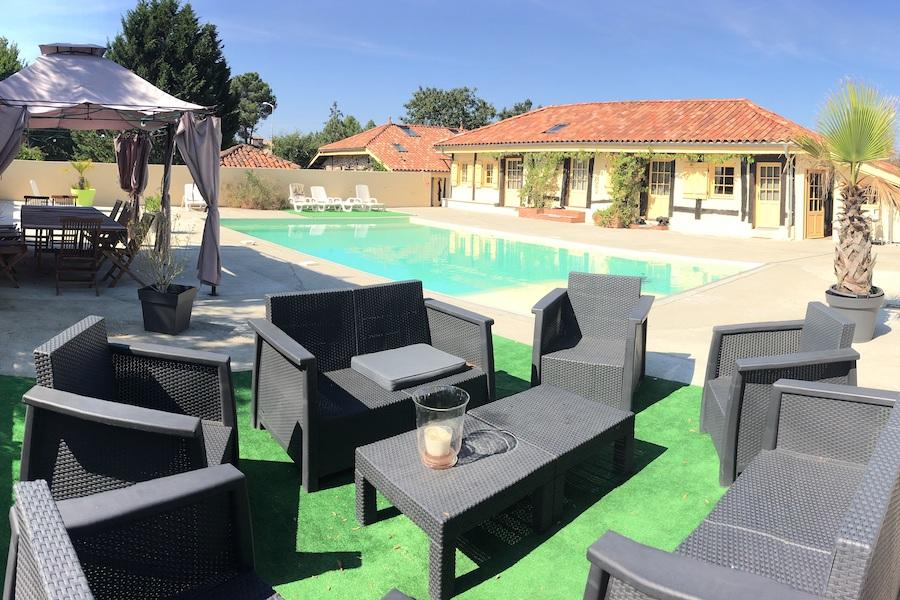 chambre d'hôtes piscine Landes stage équitation